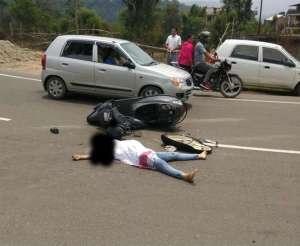 बिलासपुर में दुर्घटना में युवती की मौत